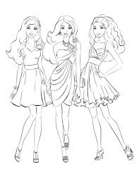 Download Coloring Pages Christmas Barbie