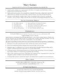 Legal Administrative Assistant Cover Letter Resume Sample Objective Entr