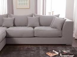 canape d angle avec grande meridienne canapé d angle en coton et avec grande méridienne edward gris