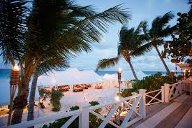 Tent Wedding Reception In The Bahamas On Sand Harbour Island Destination