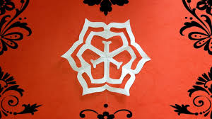 Tutorial How To Make Simple Paper Cutting Art Kirigami Flower Design 3