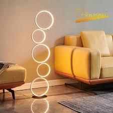 postmodernen led kreis boden le leuchten nordic ring boden lichter touch schalter stehen le innen schlafzimmer nacht dekor beleuchtung