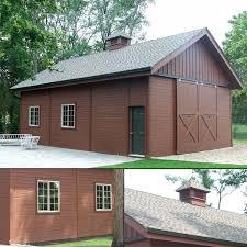 Barn Pros Postframe Garage Kit Buildings Sloped Lot Barn Pinterest