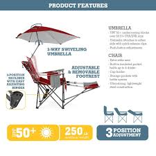 Beach Chair With Footrest And Canopy by Amazon Com Sport Brella Recliner Chair Sports U0026 Outdoors