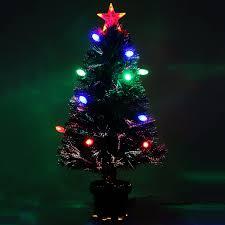 3ft Pre Lit Berry Christmas Tree by 6ft Fibre Optic Christmas Tree With Stars Christmas Lights