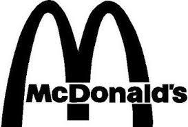 McDonalds Logo Black On White