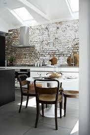 38 luxus küchen tapeten roller brick wall kitchen white
