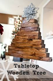 Make This Easy Christmas Craft Wooden Tabletop Tree
