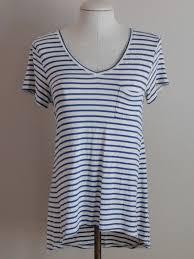 l blue u0026 cream striped tunic tee mossimo new dawn boutique
