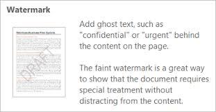 Insert Watermark Tooltip In Word 2013