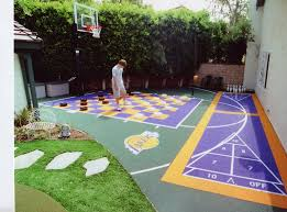 ▻ Home Decor : Amazing Backyard Basketball Court Backyard ... Multisport Backyard Court System Synlawn Photo Gallery Basketball Surfaces Las Vegas Nv Bench At Base Of Court Outside Transformation In The Name Sketball How To Make A Diy Triyaecom Asphalt In Various Design Home Southern California Dimeions Design And Ideas House Bar And Grill College Park Half With Hill