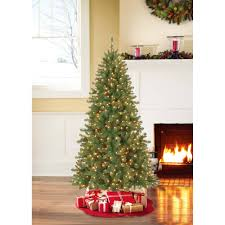 Slim Pre Lit Christmas Trees by Ge Pre Lit 7 U0027 White Winterberry Artificial Christmas Tree Dual
