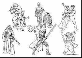 Great Star Wars Characters Coloring Pages With Color And