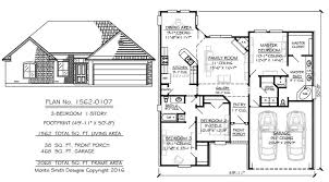 Wide House Plans by Narrow 1 Story Floor Plans 36 To 50 Wide