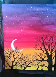 Easy Landscape Paintings Elite Fabulous Simple Painting