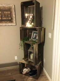Wood Corner Shelves Rustic Wooden Wall Mounted