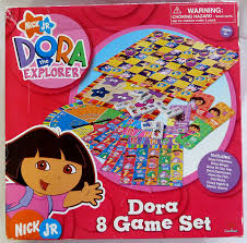 Dora The Explorer Kitchen Set by Amazon Com Dora The Explorer 8 Game Set Toys U0026 Games