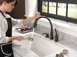 Delta Touch Faucet Battery Location by Faucet Com 980t Sssd Dst In Brilliance Stainless By Delta