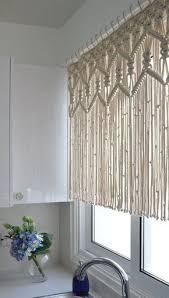 makramee gardine vorhänge wohnzimmer rustikale vorhänge