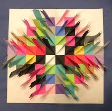 Construction Paper Projects Relief Sculpture Large White Is Cut X Great Class Art For Preschoolers
