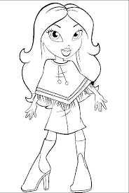 Styles Jasmin Bratz Coloring Pages