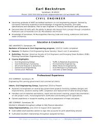 Civil Engineer Resume Examples