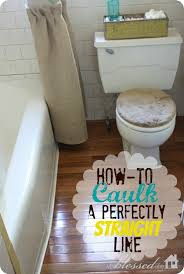 how to caulk a perfectly line