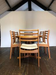 100 6 Chairs For Dining Room MidCentury Danish Teak Extending Table For Sale