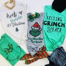 Fun Holiday Character Tees Holiday Time Fav Grinch Christmas