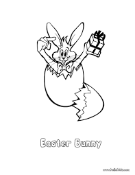 Bunny In Cracked Egg Coloring Page