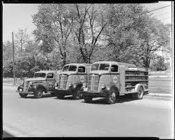 Royal Crown Cola; Three Nehi Bottling Company Soda Trucks Parked On ...