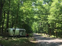 An Airstream Camping At Peaks Of Otter Campground On The Blue Ridge Parkway