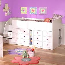 Low Loft Bed With Desk And Storage by Wood Low Loft Bunk Bed For Kids With Trundle Desk And Dresser