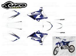 kit deco yz replica yzf deco pour plastiques ufo bleu replica 4t yzf 125 250 yz 03 14