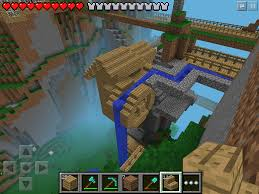 Minecraft Living Room Ideas Xbox by W2 Small Cliff Mill Minecraft Pe My Minecraft Pinterest