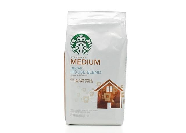 Starbucks Decaf House Blend Medium Ground 100% Arabica Coffee - 340g