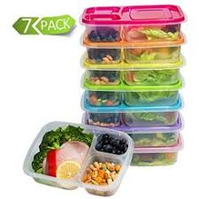 Mealcon Meal Prep Containers 3 Compartment Lunch Boxes Food Storage With Lids BPA