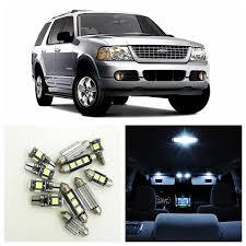 12pcs white led light bulbs interior package kit for ford explorer