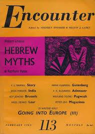 Hebrew Myths In Encounter Magazine February 1963 Graves Robert