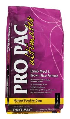 Pro Pac Ultimates Dry Dog Food - Lamb Meal & Brown Rice, 28lb
