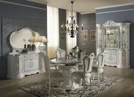 wäschekommode mit spiegel in weiss silber im barock design