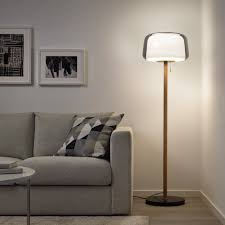 evedal floor l with led bulb marble gray gray ikea