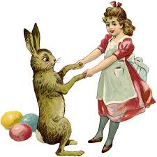 Free Vintage Easter Bunny The Graphics Fairy