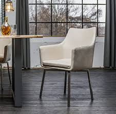 kawola stuhl cali sessel stoff esszimmerstuhl creme füße edelstahl