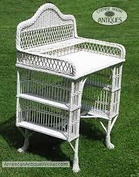 Wicker Patio Furniture Vintage Desk