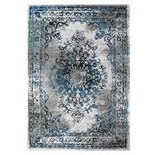 teppich mit klassischem design gabeh 3931 grau weiß