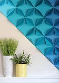 Splendid Design Paper Wall Art Simple Decor Renter Friendly 3D Ideas Flowers Crafts Tutorial Images 3d