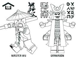 Coloring Sheet Ninjago Picture To