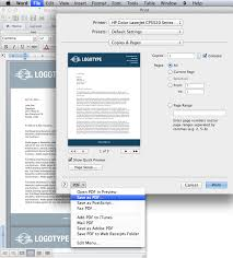 Prepare The Microsoft Word Letterhead Template For Printing