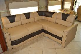 2007 Fleetwood Discovery Villa Expandable Sofa Ultraleather RV Renovation